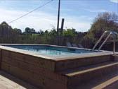 Zwembad van 10m. bij 5m.