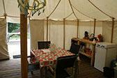Ingerichte Safarie tent, La-Bastide glamping!