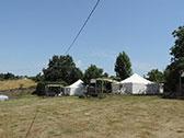 Safari Tenten 40 m2 in de tent en 25 m2 terras
