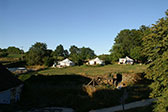 De ligging van de Safari tenten op het vakantiedomein La-Bastide