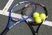 Tennis op vakantie