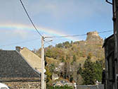 Uitzicht kasteel Murol