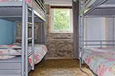 Vierpersoons slaapkamer vakantiehuis Limousin met stapelbedden