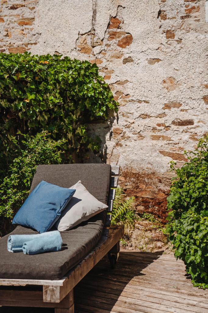 Vakantiehuis Bourgogne La-Bastide terras riante ligbedden