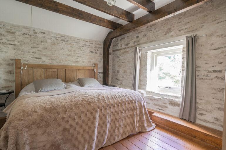 Vakantiehuis Bretagne La-Bastide slaapkamer hoofdslaapkamer tweede woonlaag