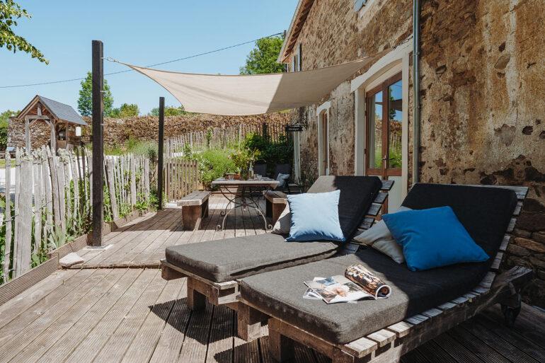 Vakantiehuis Dordogne La-Bastide terras heerlijke ligbedden om op weg te dromen