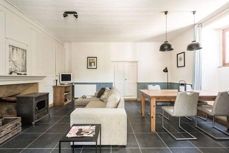 Vakantiehuis Dordogne La-Bastide woonkamer mooie woonkamer fris interieur
