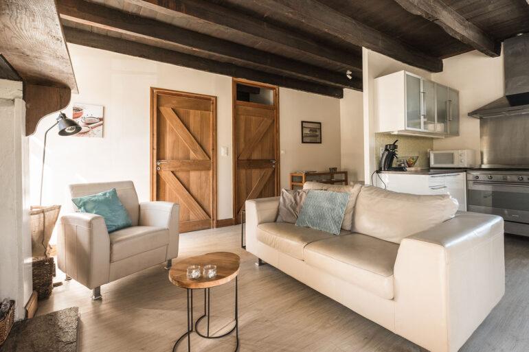 Vakantiehuis Haute-Vienne La-Bastide mooie ruime woonkamer
