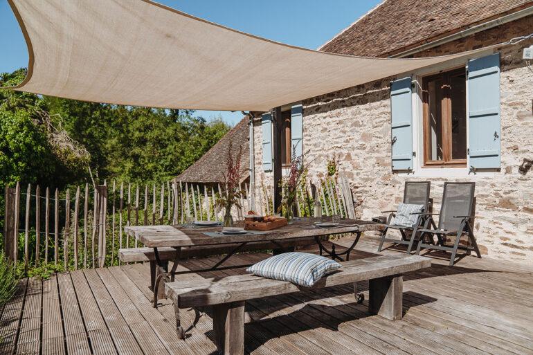 Vakantiehuis Haute-Vienne La-Bastide terras riant terras met fijn meubilair en zonnedoek