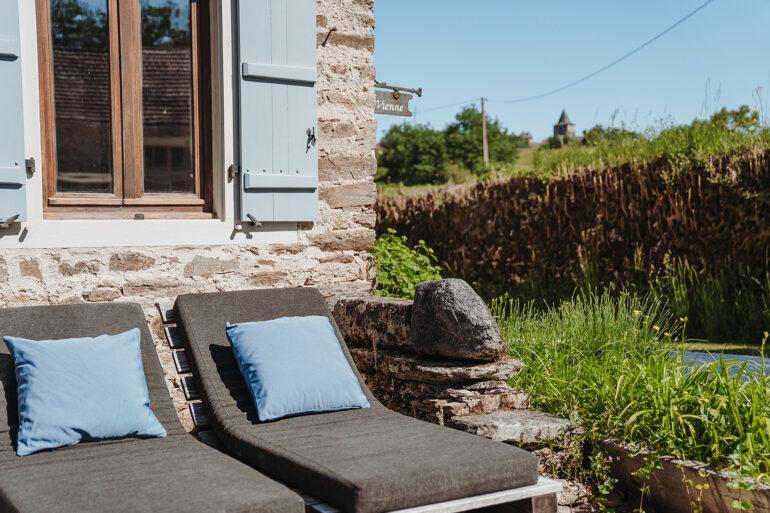 Vakantiehuis Haute-Vienne La-Bastide terras riante ligbedden in de verte kasteel Coussac Bonneval