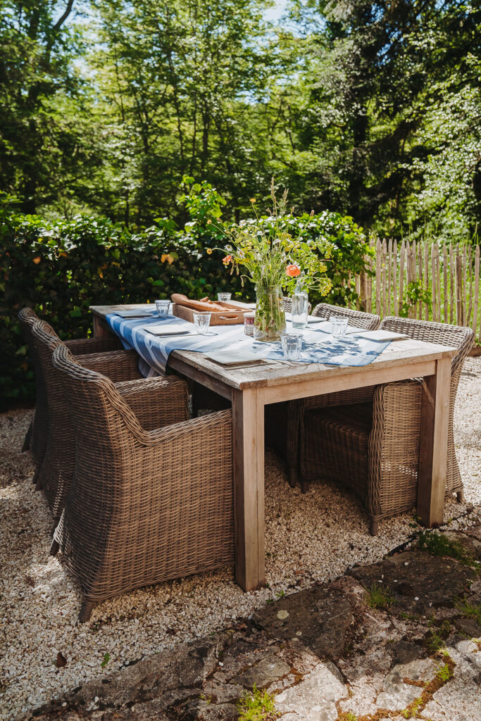 Vakantiehuis Limousin La-Bastide terras eettafelset