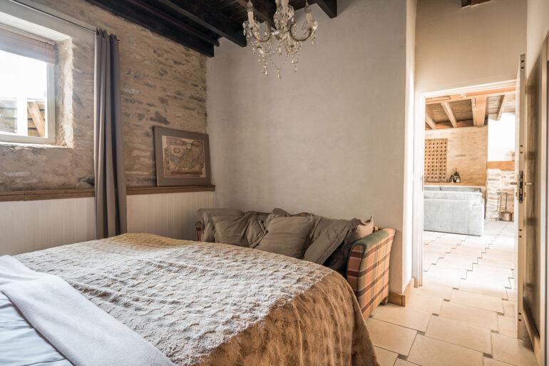 Vakantiehuis Provence La-Bastide slaapkamer beneden aan de woonkamer