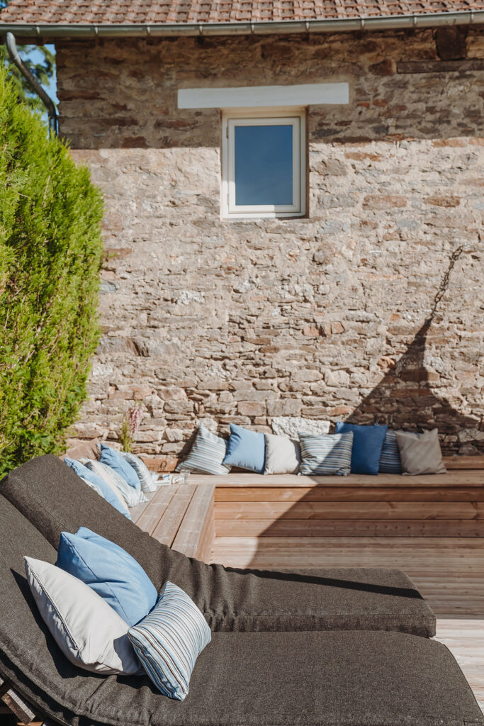 Vakantiehuis Provence La-Bastide terras ligbedden