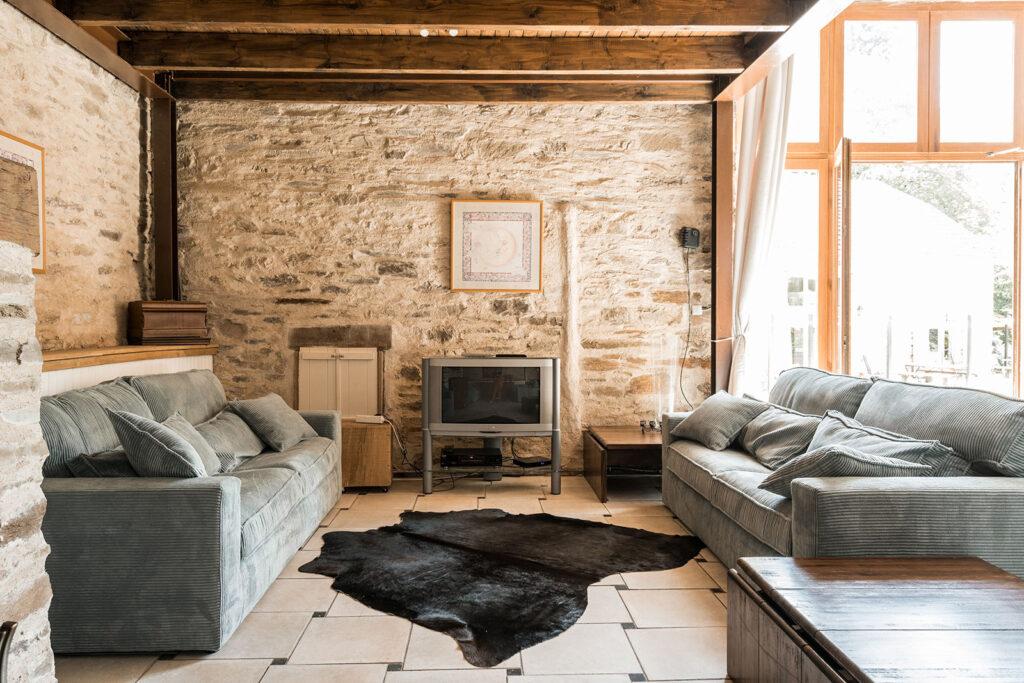 Vakantiehuis Provence La-Bastide woonkamer bijzonder plekje voor een familie vakantie