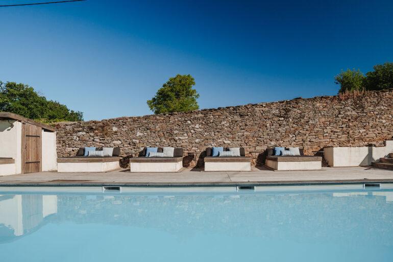 Zwembad vakantiedomein La-Bastide Haute-Vienne Frankrijk