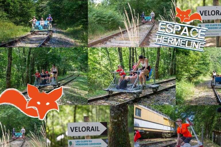 Espace Hermeline Vélorail, fietsen op een oude spoorbaan door de natuur!