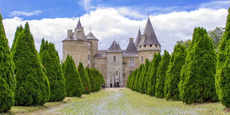 Kastelen in Nouvelle-Aquitaine Limousin kasteel Frankrijk