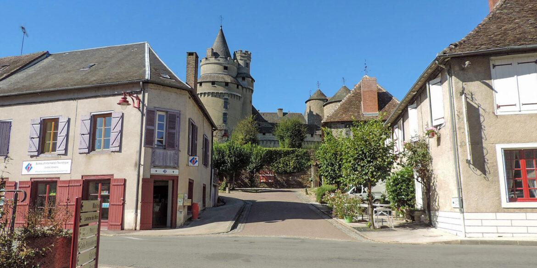 Omgeving La-Bastide Coussac-Bonneval in de Haute-Vienne Frankrijk