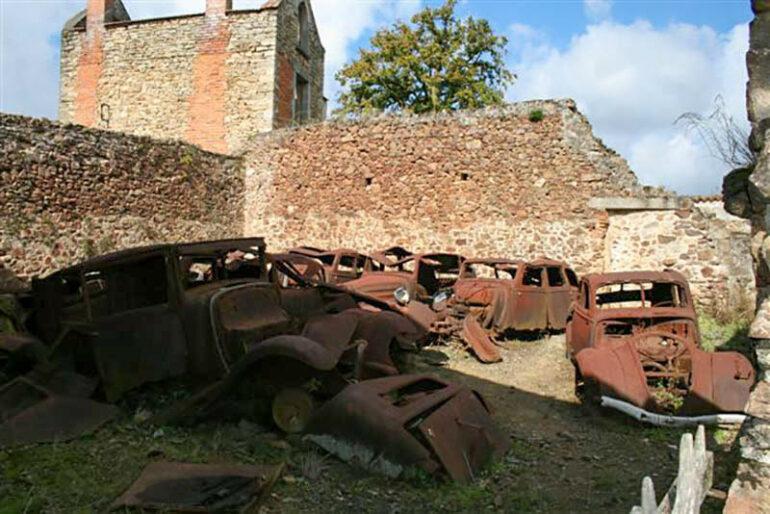 Omgeving La-Bastide steden dorpen Oradour-sur-Glane
